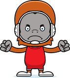 Cartoon Angry Wrestler Orangutan Stock Photography