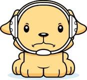 Cartoon Angry Wrestler Puppy Stock Photo