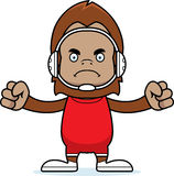 Cartoon Angry Wrestler Sasquatch Stock Photos