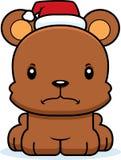 Cartoon Angry Xmas Bear Stock Image