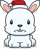 Cartoon Angry Xmas Bunny Royalty Free Stock Photography