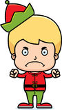 Cartoon Angry Xmas Elf Boy Royalty Free Stock Image
