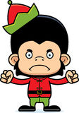 Cartoon Angry Xmas Elf Chimpanzee Royalty Free Stock Photos