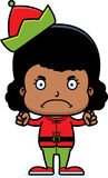 Cartoon Angry Xmas Elf Girl Stock Photos