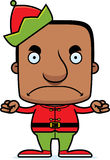 Cartoon Angry Xmas Elf Man Royalty Free Stock Photography