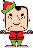 Cartoon Angry Xmas Elf Man Stock Photo