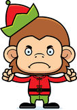 Cartoon Angry Xmas Elf Monkey Royalty Free Stock Photography
