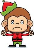 Cartoon Angry Xmas Elf Monkey Royalty Free Stock Photography