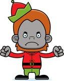 Cartoon Angry Xmas Elf Orangutan Stock Photos