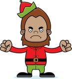 Cartoon Angry Xmas Elf Sasquatch Stock Photos