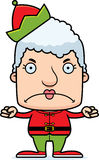 Cartoon Angry Xmas Elf Woman Royalty Free Stock Images