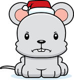 Cartoon Angry Xmas Mouse Royalty Free Stock Images