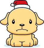 Cartoon Angry Xmas Puppy Stock Photo