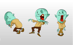 Cartoon angry zombies. Royalty Free Stock Photography