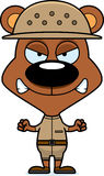 Cartoon Angry Zookeeper Bear Royalty Free Stock Images
