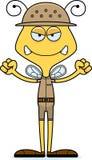 Cartoon Angry Zookeeper Bee Royalty Free Stock Photos