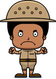 Cartoon Angry Zookeeper Boy Royalty Free Stock Images