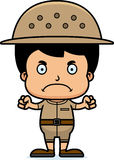 Cartoon Angry Zookeeper Boy Royalty Free Stock Photography