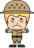 Cartoon Angry Zookeeper Boy Royalty Free Stock Photos
