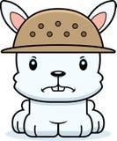 Cartoon Angry Zookeeper Bunny Royalty Free Stock Photo