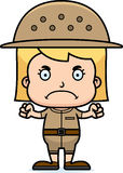 Cartoon Angry Zookeeper Girl Royalty Free Stock Photo