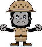Cartoon Angry Zookeeper Gorilla Stock Photos