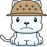 Cartoon Angry Zookeeper Kitten Stock Image