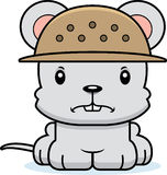 Cartoon Angry Zookeeper Mouse Stock Images