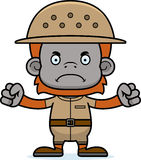 Cartoon Angry Zookeeper Orangutan Royalty Free Stock Image