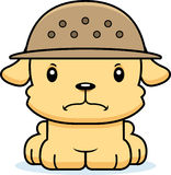 Cartoon Angry Zookeeper Puppy Royalty Free Stock Photography