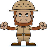 Cartoon Angry Zookeeper Sasquatch Royalty Free Stock Image