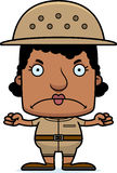 Cartoon Angry Zookeeper Woman Royalty Free Stock Photography