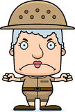 Cartoon Angry Zookeeper Woman Royalty Free Stock Photos