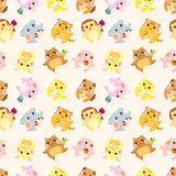 Cartoon animal Afternoon Tea time seamless pattern. Vector,illustration Royalty Free Stock Photo