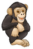 Cartoon animal - ape - caricature. Happy and colorful illustration for the children Royalty Free Stock Photos