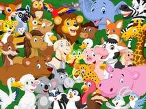 Cartoon animal background Stock Photo