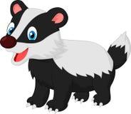 Cartoon animal badger Royalty Free Stock Images