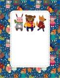 Cartoon animal card Royalty Free Stock Photos