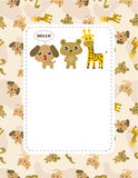 Cartoon animal card Stock Photo