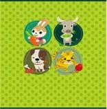 Cartoon animal card Royalty Free Stock Photography
