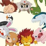 Cartoon animal card Stock Photography