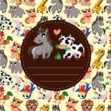 Cartoon animal card Stock Image