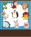 Cartoon animal card Royalty Free Stock Images