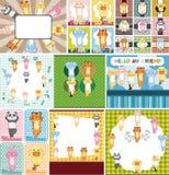 Cartoon animal card Stock Photo