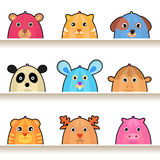 Cartoon animal characters royalty free stock photos