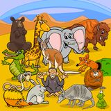 Cartoon animal characters group royalty free illustration