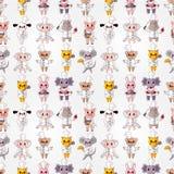 Cartoon animal chef seamless pattern Stock Photos