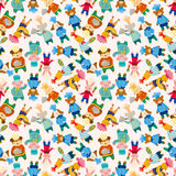 Cartoon animal chef seamless pattern Royalty Free Stock Photo