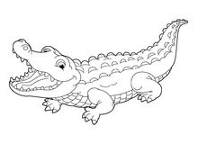 Cartoon animal - coloring page Stock Photography
