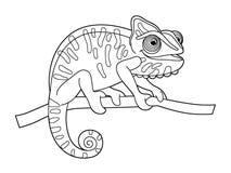 Cartoon animal - coloring page Royalty Free Stock Photo